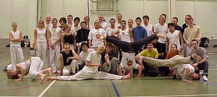 Lobo's first Capoeira workshop