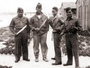 Members of the Bolo Battalion with their namesake blades