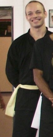 About the only picture I have from that time, here freshly graded to the second belt