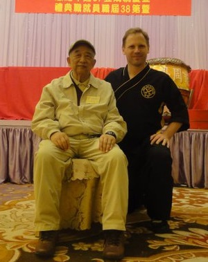Sifu John Callaghan with Jow Ga Kung Fu Grand Master Chan Man Cheung